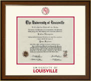 University of Louisville Diploma Frame - Dimensions Diploma Frame in Westwood