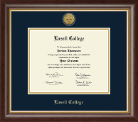 Lasell College Diploma Frame - Gold Engraved Medallion Diploma Frame in Hampshire