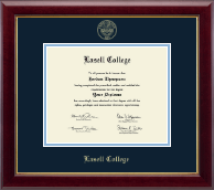 Lasell College Diploma Frame - Gold Embossed Diploma Frame in Gallery