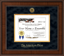 The American Prize Certificate Frame - Presidential Gold Engraved Certificate Frame in Madison