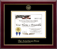 The American Prize Certificate Frame - Gold Embossed Certificate Frame in Gallery