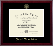Davis & Elkins College Diploma Frame - Gold Embossed Diploma Frame in Gallery
