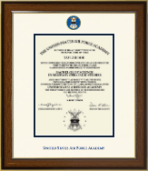 United States Air Force Academy Diploma Frame - Dimensions Diploma Frame in Westwood
