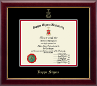 Kappa Sigma Fraternity Certificate Frame - Gold Embossed Certificate Frame in Gallery