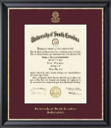 University of South Carolina Salkehatchie Diploma Frame - Gold Embossed Diploma Frame in Noir
