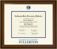 California State University Fullerton Diploma Frame - Dimensions Diploma Frame in Westwood