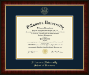 Villanova University Diploma Frame - Gold Embossed Diploma Frame in Murano
