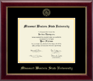 Missouri Western State University Diploma Frame - Gold Embossed Diploma Frame in Gallery
