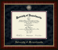 University of Massachusetts Amherst Diploma Frame - Brass Masterpiece Medallion Diploma Frame in Murano