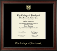 The College at Brockport Diploma Frame - Gold Embossed Diploma Frame in Studio