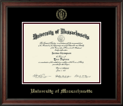University of Massachusetts Amherst Diploma Frame - Gold Embossed Diploma Frame in Studio