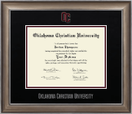 Oklahoma Christian University Diploma Frame - Dimensions Diploma Frame in Easton
