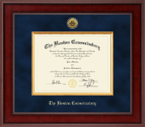 The Boston Conservatory Diploma Frame - Presidential Gold Engraved Diploma Frame in Jefferson