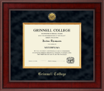 Grinnell College Diploma Frame - Presidential Gold Engraved Diploma Frame in Jefferson