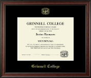 Grinnell College Diploma Frame - Gold Embossed Diploma Frame in Studio