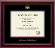 Grinnell College Diploma Frame - Gold Embossed Diploma Frame in Gallery