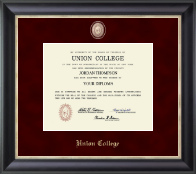 Union College in New York Diploma Frame - Regal Edition Diploma Frame in Noir