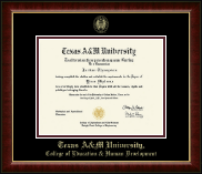 Texas A&M University Diploma Frame - Gold Embossed Diploma Frame in Murano