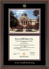 Texas A&M University Diploma Frame - Campus Scene Diploma Frame in Chateau