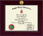 Kappa Sigma Fraternity Certificate Frame - Century Gold Engraved Certificate Frame in Cordova