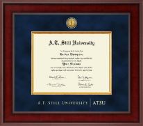 A.T. Still University Diploma Frame - Presidential Gold Engraved Diploma Frame in Jefferson