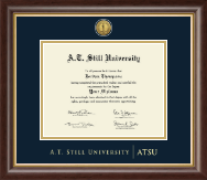 A.T. Still University Diploma Frame - Gold Engraved Medallion Diploma Frame in Hampshire