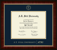 A.T. Still University Diploma Frame - Gold Embossed Diploma Frame in Murano