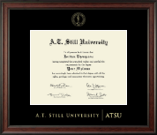 A.T. Still University Diploma Frame - Gold Embossed Diploma Frame in Studio
