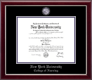 New York University Diploma Frame - Masterpiece Medallion Diploma Frame in Gallery Silver
