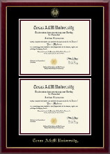 Texas A&M University Diploma Frame - Double Diploma Frame in Gallery