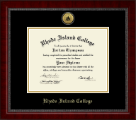 Rhode Island College Diploma Frame - Gold Engraved Medallion Diploma Frame in Sutton
