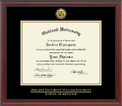 Oakland University Diploma Frame - Gold Engraved Medallion Diploma Frame in Signature