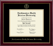 Northwestern Health Sciences University Diploma Frame - Gold Embossed Diploma Frame in Gallery