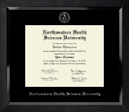 Northwestern Health Sciences University Diploma Frame - Silver Embossed Diploma Frame in Eclipse