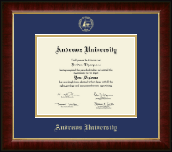 Andrews University Diploma Frame - Gold Embossed Diploma Frame in Murano