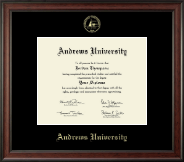 Andrews University Diploma Frame - Gold Embossed Diploma Frame in Studio