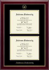 Andrews University Diploma Frame - Double Diploma Frame in Gallery