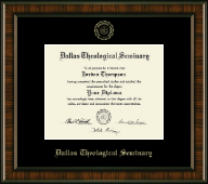 Dallas Theological Seminary Diploma Frame - Gold Embossed Diploma Frame in Brentwood