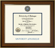 University of Dubuque Diploma Frame - Dimensions Diploma Frame in Westwood