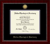 Dallas Theological Seminary Diploma Frame - Gold Engraved Medallion Diploma Frame in Sutton