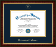 University of Delaware Diploma Frame - Gold Embossed Diploma Frame in Murano