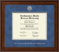 Northwestern Health Sciences University Diploma Frame - Presidential Silver Engraved Diploma Frame in Madison