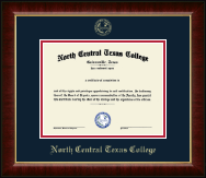 North Central Texas College Diploma Frame - Gold Embossed Diploma Frame in Murano