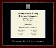 Northwestern Health Sciences University Diploma Frame - Silver Engraved Medallion Diploma Frame in Sutton