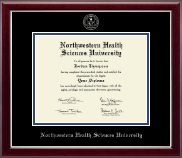 Northwestern Health Sciences University Diploma Frame - Silver Embossed Diploma Frame in Gallery Silver