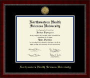 Northwestern Health Sciences University Diploma Frame - Gold Engraved Medallion Diploma Frame in Sutton