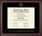 Northwestern Health Sciences University Diploma Frame - Gold Embossed Diploma Frame in Studio Gold