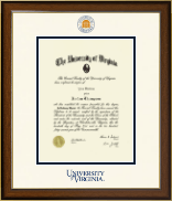 University of Virginia Diploma Frame - Dimensions Diploma Frame in Westwood