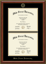 Wake Forest University Diploma Frame - Double Diploma Frame in Brighton