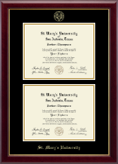 St. Mary's University Diploma Frame - Double Diploma Frame in Gallery